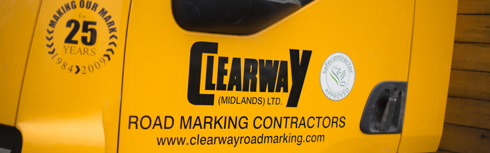 Clearway Midlands logo on van